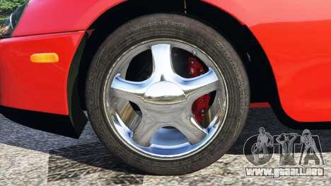 GTA 5 Toyota Supra RZ 1998 vista lateral trasera derecha