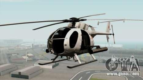 AH-6J Little Bird para GTA San Andreas
