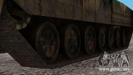 T-95 from Arctic Combat para GTA San Andreas vista posterior izquierda