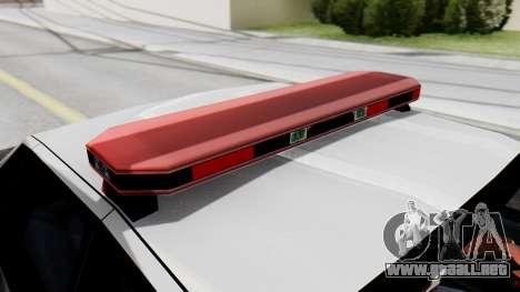 Police SF with Lightbars para la visión correcta GTA San Andreas