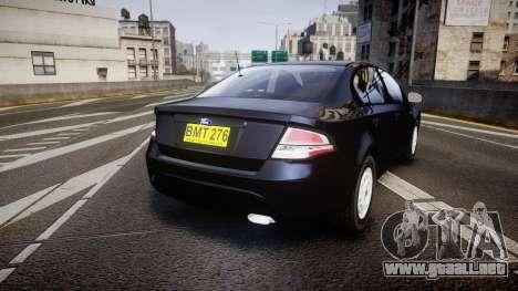 Ford Falcon FG XR6 Unmarked NSW Police [ELS] para GTA 4 Vista posterior izquierda