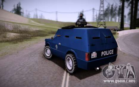 El Coche Blindado. para GTA San Andreas left
