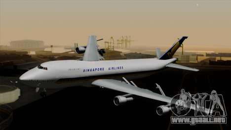 Boeing 747 Singapore (Old) para GTA San Andreas