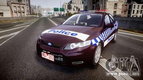 Ford Falcon FG XR6 Turbo NSW Police [ELS] v3.0 para GTA 4