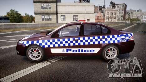 Ford Falcon FG XR6 Turbo NSW Police [ELS] v3.0 para GTA 4 left