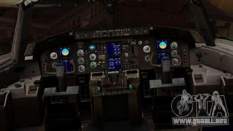 Boeing 757-200 (N757A) para visión interna GTA San Andreas