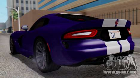 Dodge Viper SRT GTS 2013 HQLM (HQ PJ) para GTA San Andreas left