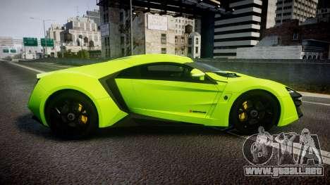 Lykan HyperSport 2014 [EPM] para GTA 4 left