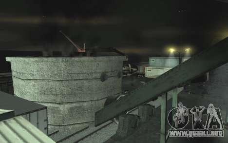 Automotriz depósito de chatarra v0.1 para GTA San Andreas novena de pantalla