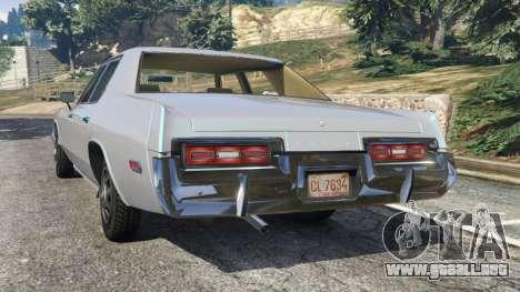 GTA 5 Dodge Monaco 1974 [Beta] vista lateral izquierda trasera