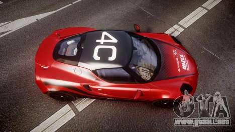 Alfa Romeo 4C 2014 WTCC Safety Car para GTA 4 visión correcta