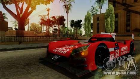 Nissan GTR LM LMP1 2015 para la visión correcta GTA San Andreas