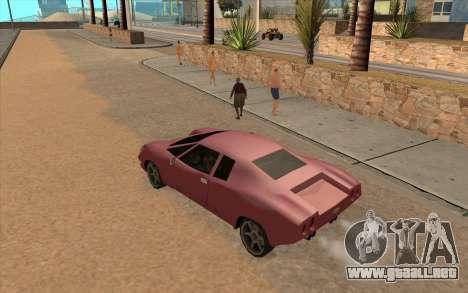 GTA VC Infernus SA Style para GTA San Andreas vista posterior izquierda