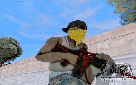 M4A1 Crimzone para GTA San Andreas sucesivamente de pantalla