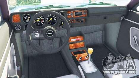 GTA 5 Nissan Skyline 2000 GT-R 1970 v0.2 [Beta] vista lateral trasera derecha