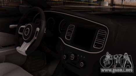 Dodge Charger SRT8 2012 LD para la visión correcta GTA San Andreas