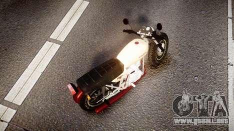 Honda CB-100 para GTA 4 Vista posterior izquierda