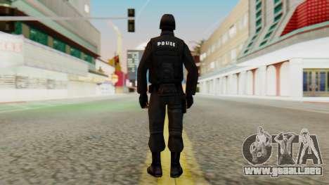 Modificado SWAT para GTA San Andreas tercera pantalla