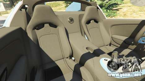 GTA 5 Bugatti Veyron Grand Sport v2.0 vista lateral derecha
