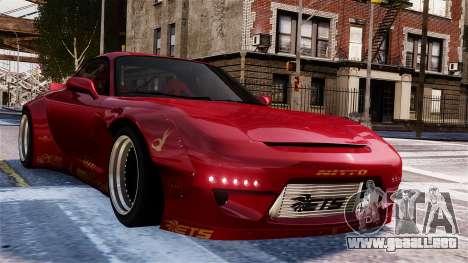 Mazda RX-7 RocketBunny EPM para GTA 4 vista lateral