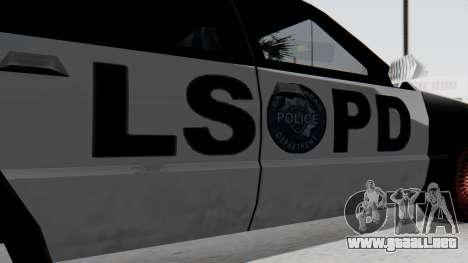 Police LS with Lightbars para la visión correcta GTA San Andreas
