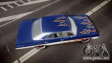 Chevrolet Impala 1967 Custom livery 3 para GTA 4 visión correcta