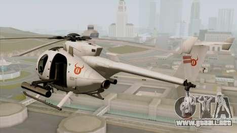 AH-6J Little Bird para GTA San Andreas left