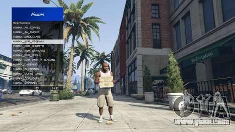 GTA 5 Scenario Menu 1.1 cuarto captura de pantalla