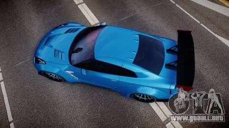 Nissan GT-R (R35) para GTA 4 visión correcta