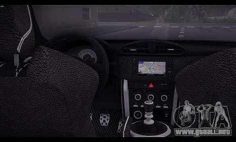 Toyota GT86 2012 BUFG Edition para visión interna GTA San Andreas