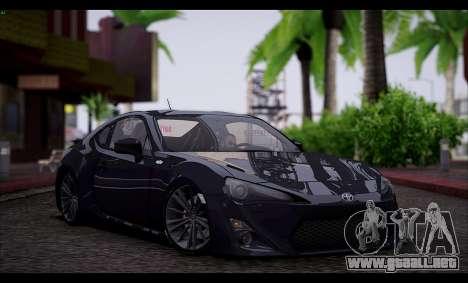 Toyota GT86 2012 BUFG Edition para GTA San Andreas