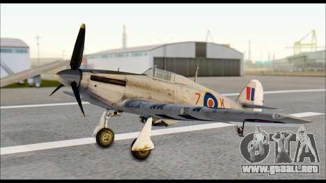 Hawker Hurricane MK IA para la visión correcta GTA San Andreas