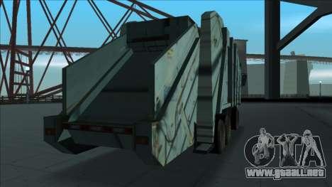 TDK Volvo Xpeditor Garbage Crash Version para la visión correcta GTA San Andreas