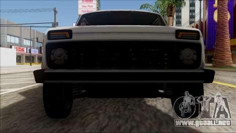 VAZ 2121 Niva BUFG Edición para vista lateral GTA San Andreas