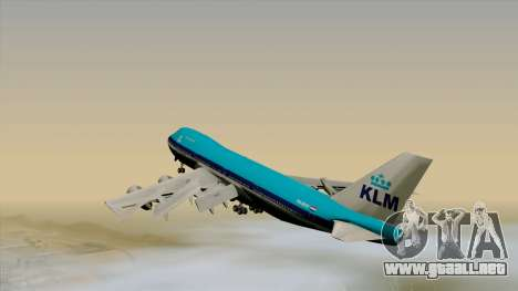 Boeing 747-200B KLM para GTA San Andreas left
