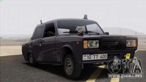 VAZ 2107 Avtosh Style para vista lateral GTA San Andreas