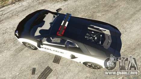 GTA 5 Lamborghini Aventador LP700-4 Police vista trasera