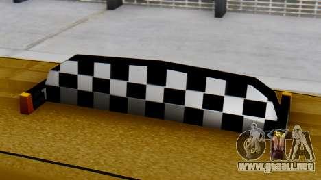 Vapid Landstalker Taxi SR 4 Style para la visión correcta GTA San Andreas