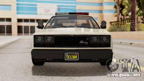 GTA 5 Albany Esperanto Police Roadcruiser IVF para vista lateral GTA San Andreas