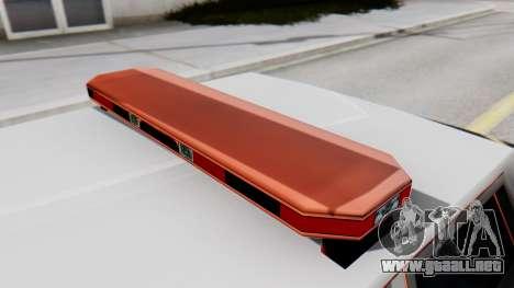 Police LV with Lightbars para GTA San Andreas vista hacia atrás