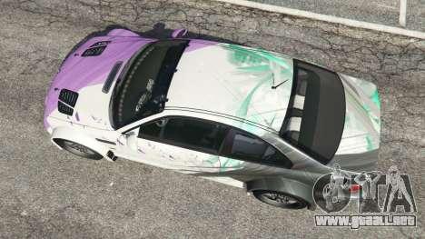 GTA 5 BMW M3 GTR E46 PJ2 vista trasera