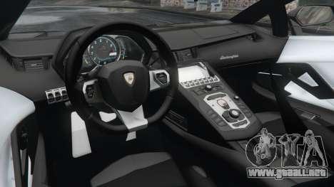 GTA 5 Lamborghini Aventador LP700-4 Police v3.5 vista lateral trasera derecha