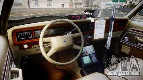 Ford LTD Crown Victoria 1987 LAPD [ELS] para GTA 4 vista hacia atrás