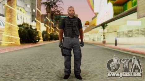 [GTA5] BlackOps2 Army Skin Black para GTA San Andreas segunda pantalla
