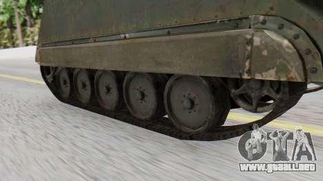 M113 from CoD BO2 para GTA San Andreas vista posterior izquierda