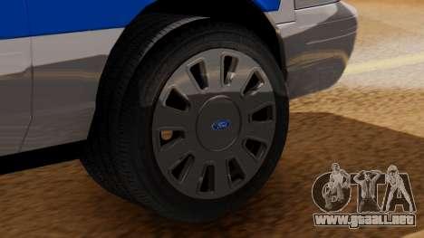 Police Ranger 2013 para GTA San Andreas vista posterior izquierda