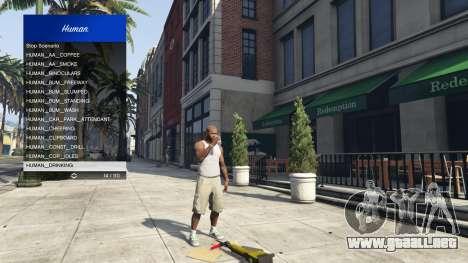 GTA 5 Scenario Menu 1.1 octavo captura de pantalla