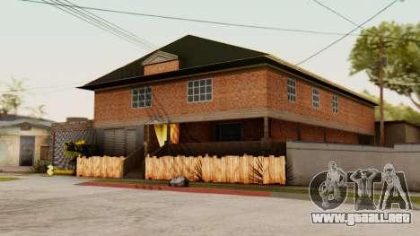 La casa de CJ para GTA San Andreas segunda pantalla