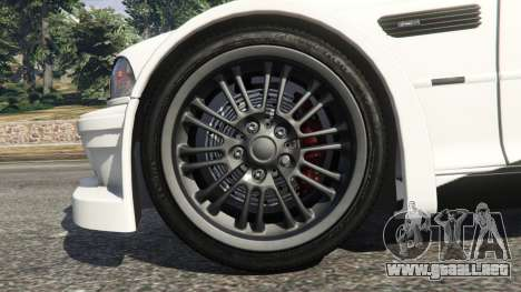 BMW M3 GTR E46 black on white para GTA 5