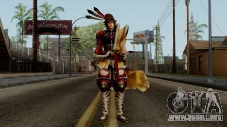 Sengoku Basara 3 - Maeda Keiji para GTA San Andreas segunda pantalla